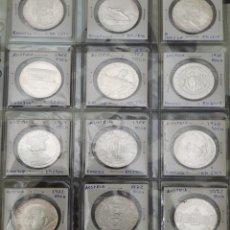 Monedas de España: LOTE 12 MONEDAS PLATA S/C 50 CHELINES VARIOS AÑOS. Lote 195175841