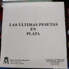 Monedas de España: COLECCION LAS ÚLTIMAS PESETAS EN PLATA. FÁBRICA DE LA MONEDA. PROOF.. Lote 195450402