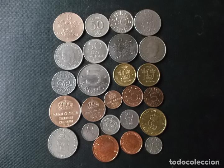 Monedas de España: conjunto de monedas de Suecia algunas de plata en muy buen estado de años 40 a 2000 - Foto 2 - 197301995