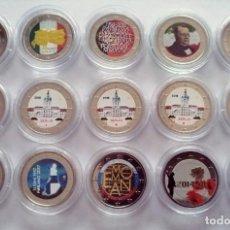 Monedas de España: LOTE 15 MONEDAS 2.EUROS COLOR. Lote 197336043