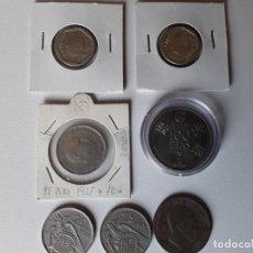 Monedas de España: LOTE DE 7 MONEDAS ANTIGUAS DE VARIAS ÉPOCAS ALGUNAS SIN CIRCULAR . Lote 198916345