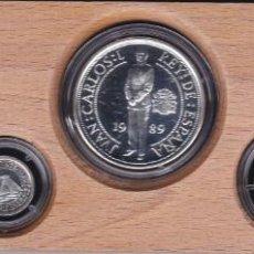 Monedas de España: COLECCION DE 5 MONEDAS DE PLATA DEL AÑO 1989 ESTUCHE DE MADERA CERTIFICADO DE AUTENTICIDAD (COIN) . Lote 199771641