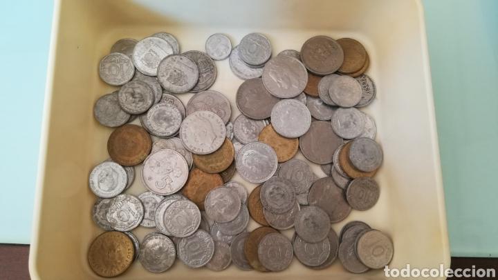 190 GRAMOS DE PESETAS Y CÉNTIMOS (Numismática - España Modernas y Contemporáneas - Colecciones y Lotes de conjunto)
