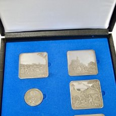 Monedas de España: ESTUCHE CONMEMORATIVO GOYA.MONEDA Y 5 REPRODUCCIONES DE TAPICES EN PLATA.IBERCAJA.EN MUY BUEN ESTADO. Lote 202973618