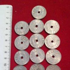 Monedas de España: LOTE DE 13 MONEDAS DE 25 CÉNTIMOS DE 1937. Lote 203523012