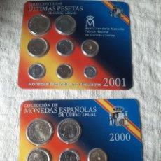 Monedas de España: ESPAÑA MONEDAS FNMT AÑO 2000 Y 2001 PESETAS JUAN CARLOS I. Lote 203897006