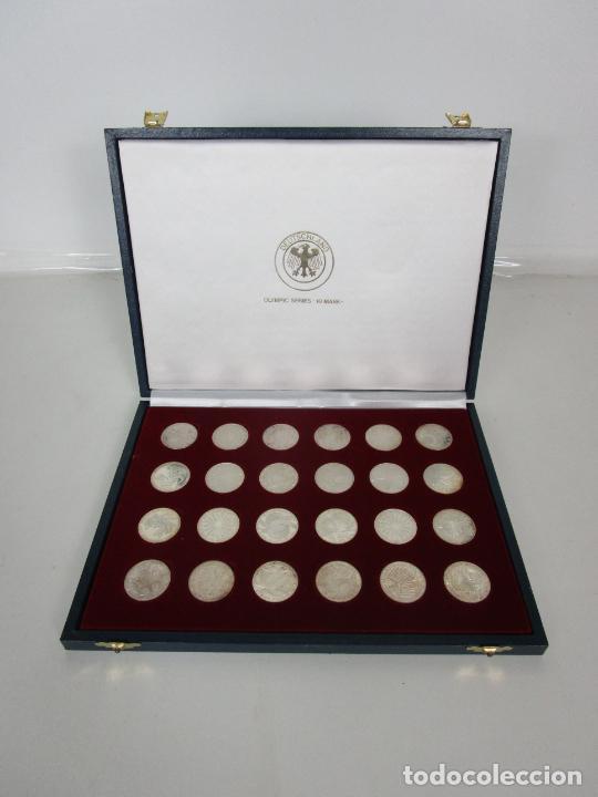 Monedas de España: Estuche - Monedas Conmemorativas Munich 1972 - Deutshland Olimpic Series - 10 Mark - en Plata de Ley - Foto 14 - 204112862