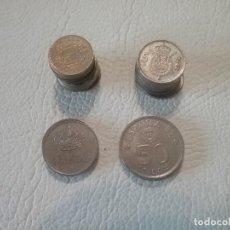 Monedas de España: LOTE DE 26 MONEDAS EN PESETAS DE DIFERENTES VALORES Y FECHAS.. Lote 204261172
