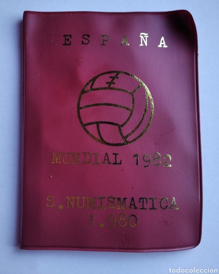 Monedas de España: Cartera España Mundial Futbol 1982 Serie Numismatica 1980 monedas Juan Carlos I - Foto 2 - 204325980
