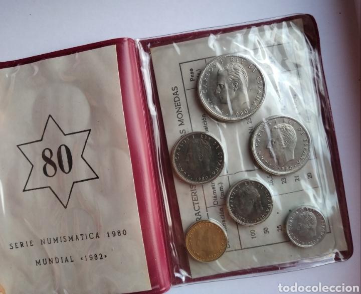Monedas de España: Cartera España Mundial Futbol 1982 Serie Numismatica 1980 monedas Juan Carlos I - Foto 3 - 204325980