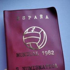 Monedas de España: CARTERA ESPAÑA MUNDIAL FUTBOL 1982 SERIE NUMISMATICA 1980 MONEDAS JUAN CARLOS I. Lote 204325980