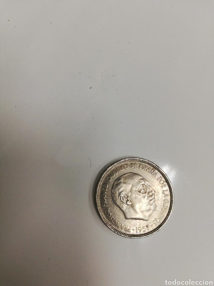 Monedas de España: Lote de 40 monedas Franco. De Duro, de 5 ptas. Tods circuladas y todas de 1957. - Foto 2 - 204824101
