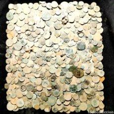 Monedas de España: A16. UNAS 650 PIEZAS POR LIMPIAR. VER DESCRIPCIÓN. Lote 206212771