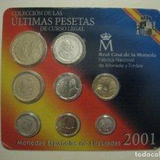 Monedas de España: COLECCIÓN ÚLTIMAS PESETAS CURSO LEGAL 2001 - REAL CASA DE LA MONEDA - MONEDAS ESPAÑOLAS NO CIRCULADA. Lote 206297492
