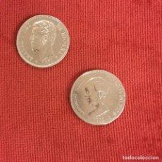 Monedas de España: PAREJA DE DOS MONEDA DE PLATA DE 5 PESETAS. Lote 208043900