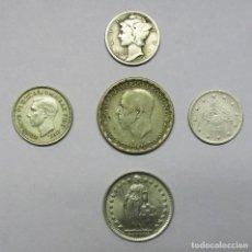 Monedas de España: 5 MONEDAS EXTRANJERAS DE PLATA: AUSTRALIA, ESTADOS UNIDOS (USA), SUECIA, SUIZA, TURQUIA. LOTE-3049. Lote 208223542