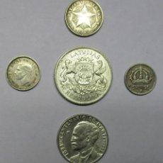Monedas de España: 5 MONEDAS EXTRANJERAS DE PLATA: AUSTRALIA, CUBA (2), LETONIA, SUECIA. LOTE-3050. Lote 208225591