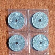 Monedas de España: 25 CENTIMOS 1937. EXCELENTE CONSERVACIÓN. 5 € LA UNIDAD. 20 € EL LOTE. Lote 210947881