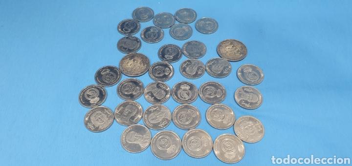 33 MONEDAS REAL MADRID - COLECCIÓN DIARIO AS (Numismática - España Modernas y Contemporáneas - Colecciones y Lotes de conjunto)