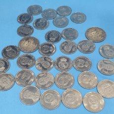 Monedas de España: 33 MONEDAS REAL MADRID - COLECCIÓN DIARIO AS. Lote 212598145