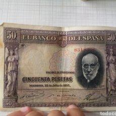 Moedas de Espanha: LOTE BILLETES DE 100, 50, 10 Y 1 PESETA. Lote 212599281