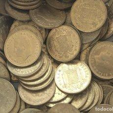 Monedas de España: LOTE 100 MONEDAS DE 1 PESETA DE 1975*80. Lote 212955646
