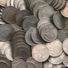 Monedas de España: LOTE 100 MONEDAS DE 5 PESETAS DE 1957*67. Lote 212974397