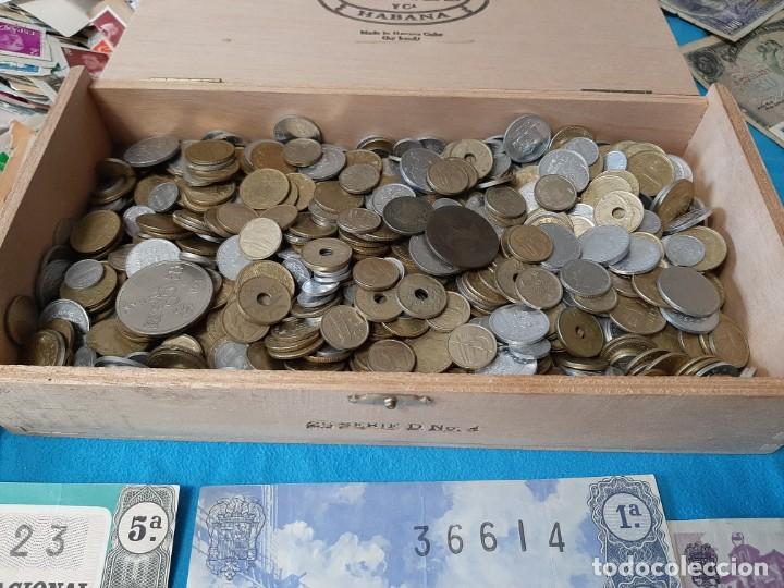 Monedas de España: Superlote variado época franco y Juan Carlos Sellos Monedas Lotería Billetes - Foto 6 - 213092775