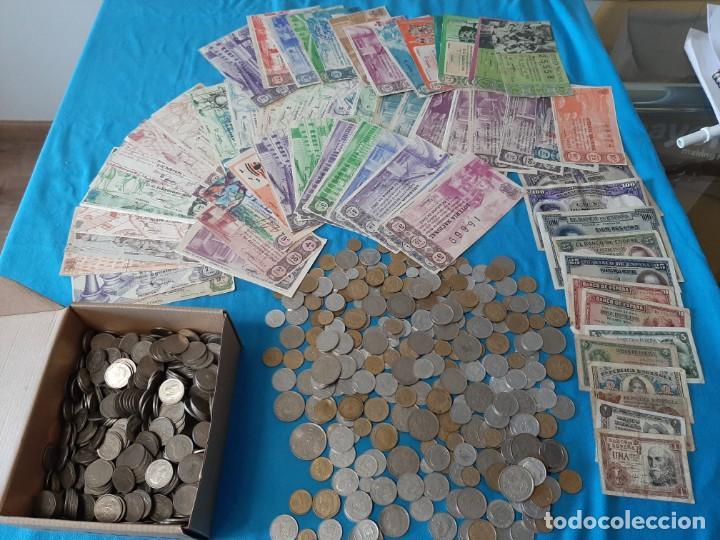 SUPERLOTE EL CAJÓN DEL ABUELO MONEDAS BILLETES Y LOTERIAS (Numismática - España Modernas y Contemporáneas - Colecciones y Lotes de conjunto)