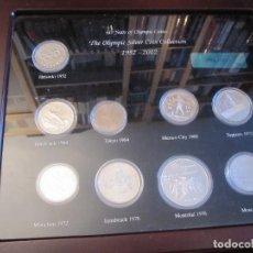 Monedas de España: COLECCION 60 AÑOS MONEDAS PLATA OLIMPICA 1952-2012 EN CAJA CONTENEDORA. Lote 213658910