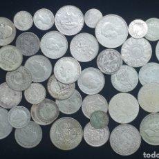 Monedas de España: BONITO LOTE DE 42 PIEZAS DE PLATA VARIOS PAÍSES. PESO 226 GRAMOS. Lote 216368225