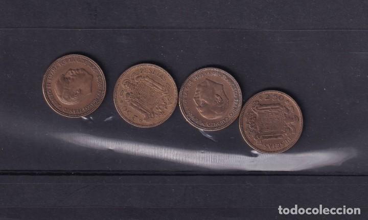 MONEDAS ESPAÑA AÑO 1956 MONEDAS DE 2,50 PESETA 4 UNIDADES BUEN ESTADO VER FOTOS (Numismática - España Modernas y Contemporáneas - Colecciones y Lotes de conjunto)