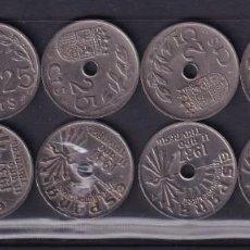 Monedas de España: MONEDAS ESPAÑA AÑO 1937 MONEDAS DE 25 CENTIMOS 12 UNIDADES BUEN ESTADO VER FOTOS. Lote 217338440