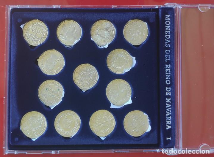 NAVARRA-1 13 MONEDAS DE PLATA- COLECCION EN ESTUCHE *MONEDAS DEL REYNO NAVARRA -1*COMPLETA + FICHAS (Numismática - España Modernas y Contemporáneas - Colecciones y Lotes de conjunto)