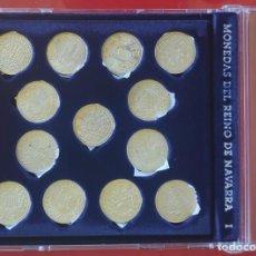 Moedas de Espanha: NAVARRA 13 MONEDAS DE PLATA- COLECCION EN ESTUCHE *MONEDAS DEL REYNO DE NAVARRA -1*COMPLETA + FICHAS. Lote 251799640
