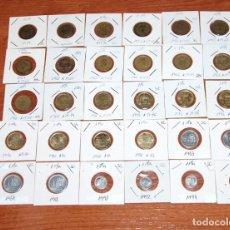 Monedas de España: 30 MONEDAS DE 1 PTA DISTINTOS AÑOS DE 1944 A 1997. Lote 218311888