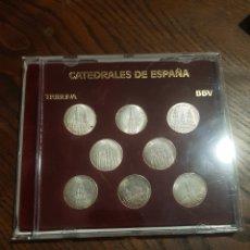 Monedas de España: 8 MONEDAS PLATA DE LEY CATEDRALES DE ESPAÑA BBV TRIBUNA. Lote 218649753