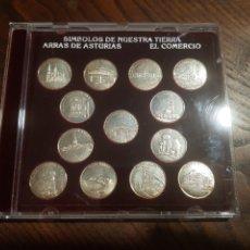 Monedas de España: SIMBOLOS DE NUESTRA TIERRA ARRAS DE ASTURIAS 13 MONEDAS PLATA. Lote 218649760