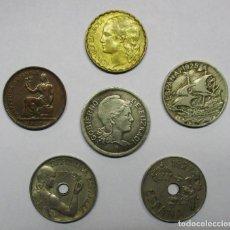 Monedas de España: ALFONSO XIII Y SEGUNDA REPUBLICA ESPAÑOLA. CINCO MONEDAS. LOTE 3443. Lote 219265278