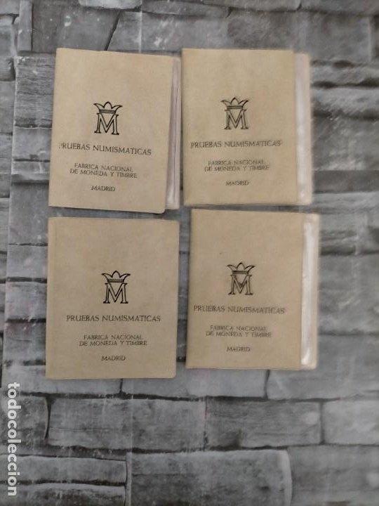4 PRUEBAS NUMISMATICAS 1976 (Numismática - España Modernas y Contemporáneas - Colecciones y Lotes de conjunto)