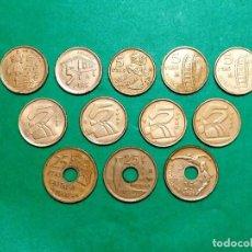 Monedas de España: LOTE DE 12 MONEDAS DE 5 Y DE 25 PESETAS ESPAÑA. Lote 218024496