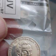Monedas de España: MEDALLA MONEDA PLATA PERSONAJES ILUSTRES FRANCISCO DE ZURBARAN FUENTE DE CANTOS REF64. Lote 220430782