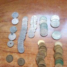 Monedas de España: .MONEDA LOTE DE UNAS 150 EN DIVERSAS CALIDADES, PESO UNOS 650 GRAMOS, VER LAS 3 FOTOS. Lote 220944115