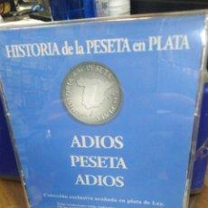 Moedas de Espanha: HISTORIA DE LA PESETA EN PLATA-ADIÓS PESETA ADIÓS-COLECCIÓN EXCLUSIVA EN PLATA DE LEY.. Lote 221077170