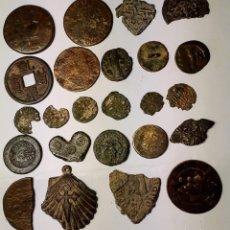 Monedas de España: 24 PIEAZAS CON 7 MONEDAS MEIDIEVALES, 6 ANTIGUAS, FRACCIÓN DIRHEN ARABE Y RESTO VARIOS. Lote 221745190