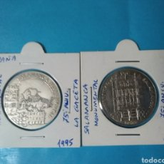 Monedas de España: 2 MONEDAS --MEDALLA DE PLATA (SALAMANCA MONUMENTAL 75 ANIVERSARIO LA GACETA )ESPAÑA AÑO 1975. Lote 222078007