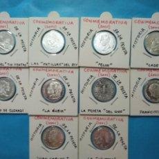 Monedas de España: HISTORIA DE LA PESETA MONEDAS CONMEMORATIVAS DEL AÑO 2001 EN PLATA. Lote 222082547