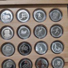 Monedas de España: SET DE PLATA OLIMPIADAS DE BARCELONA. 16 MONEDAS.. Lote 222108966