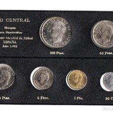 Monedas de España: SERIE NUMISMATICA MONEDAS CAMPEONATO MUNDIAL DE FUTBOL ESPAÑA 1982. BANCO CENTRAL. Lote 222563821