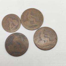 Monedas de España: 4 MONEDAS EN COBRE SIGLO XIX Ó XX. Lote 223616465